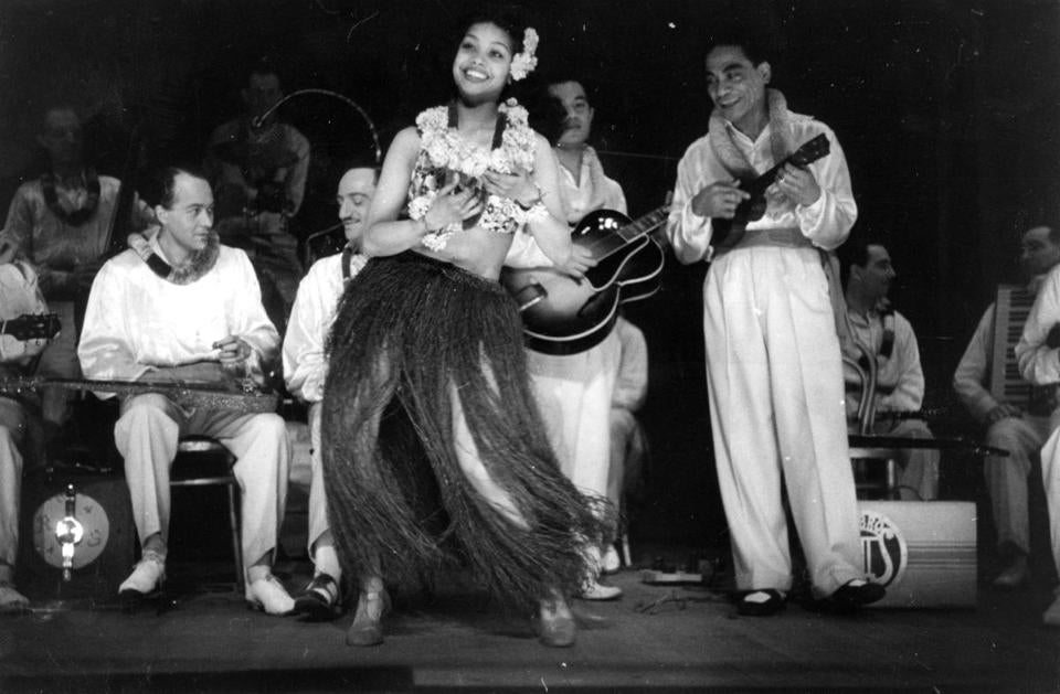 "In the first half of the 20th century (pictured, 1944), ""hapa haole"" music brought surfing (and ukeleles) to a curious America."